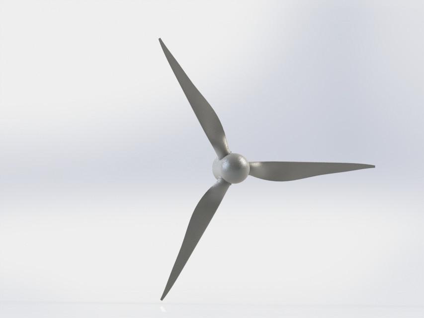 Aerogenerador / Wind turbine blade NACA 4412 | 3D CAD Model