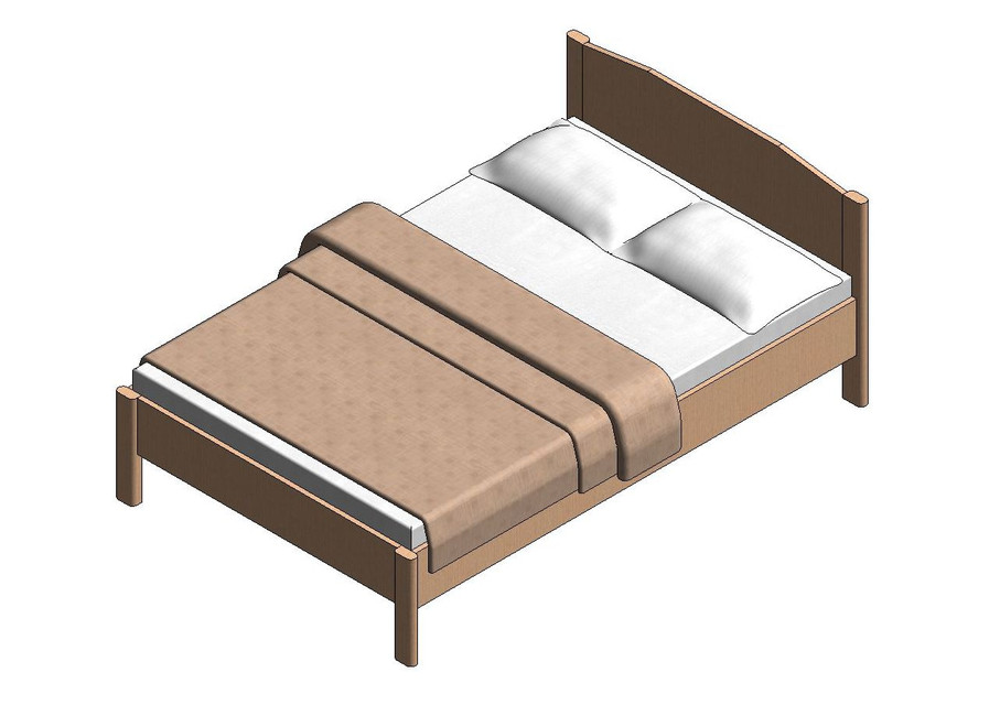 bed - revit families | 3D CAD Model Library | GrabCAD