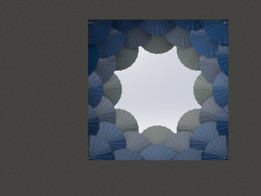 Tiffany, Umbrella themed windows, Window 1