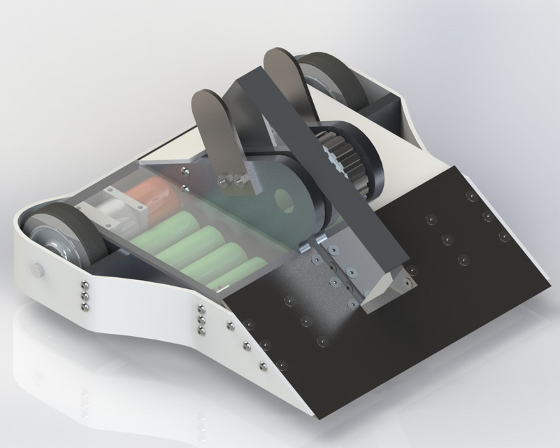15lb Vertical Spinner Battlebot | 3D CAD Model Library | GrabCAD