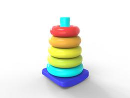pyramide anneau plastique