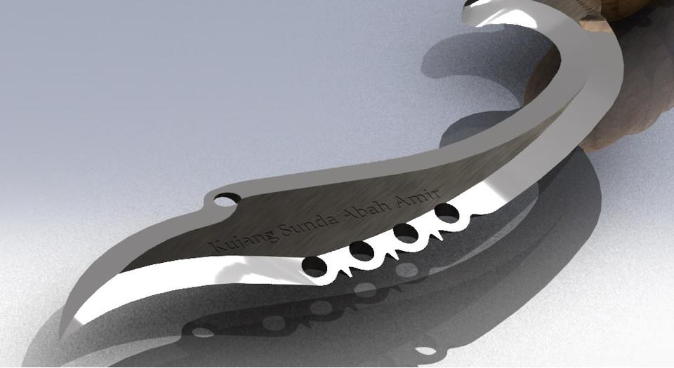 Sundanese Blade Kujang 3d Cad Model Library Grabcad
