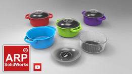 Plastic pot with strainer