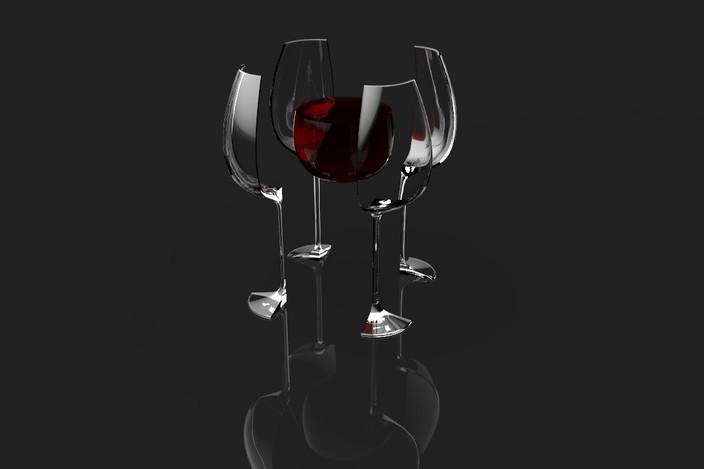 Broken wine glass by ChristopherLarsen on DeviantArt   Broken Wine Glass Painting