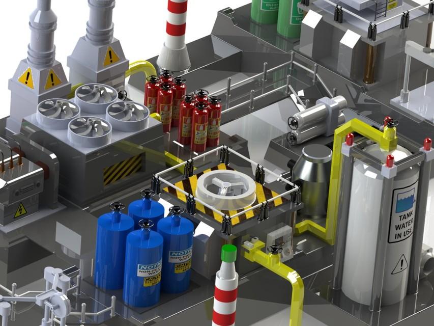 Desalination Plant Model   3D CAD Model Library   GrabCAD