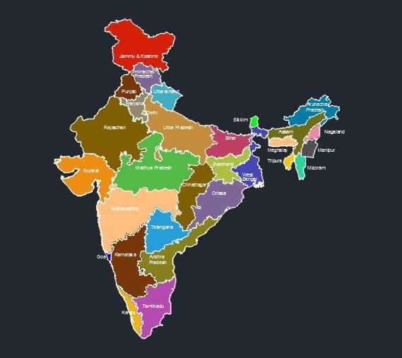 India Map 3D India Map | 3D CAD Model Library | GrabCAD