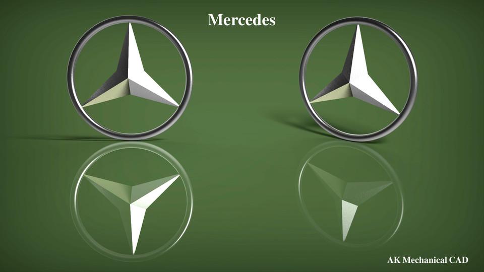 Mercedes logo catia 3d cad model grabcad sciox Images