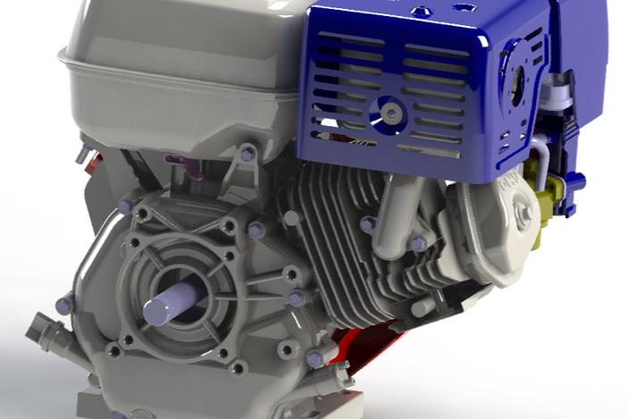 Honda Gx340-390 - Other - 3d Cad Model