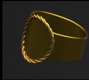 Brass and Gold Ring