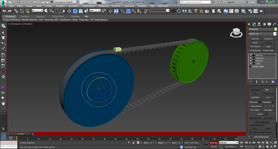 belt-pulley | 3D CAD Model Library | GrabCAD
