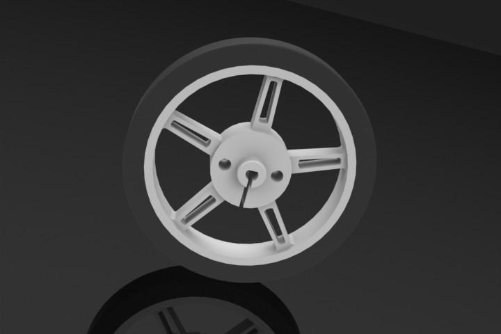 Pololu Wheel 60x8mm | 3D CAD Model Library | GrabCAD