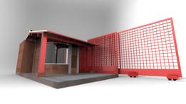 checkpoint gatehouse (garita de vigilancia y control)