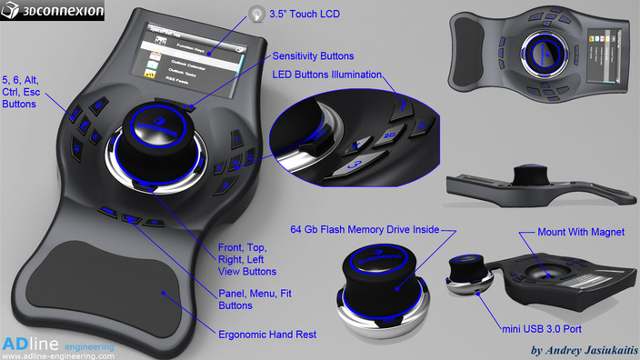 3D connexion SpacePilot Pro concept