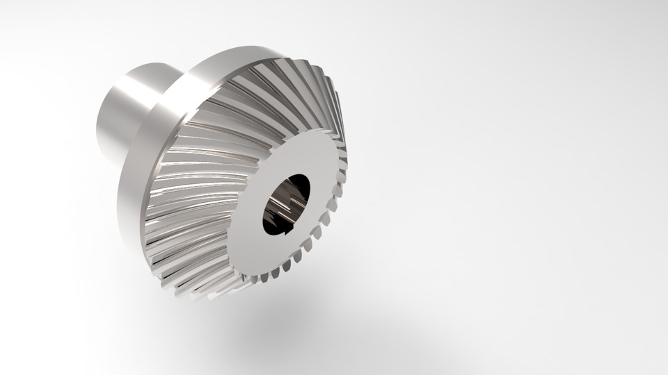Spiral bevel gear | 3D CAD Model Library | GrabCAD