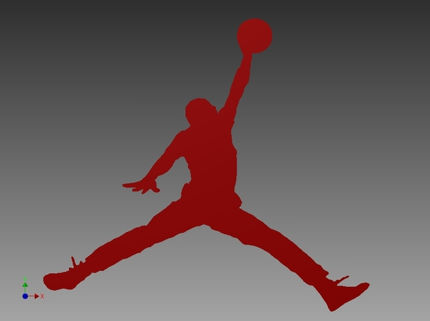 Red Air Jordan Logo