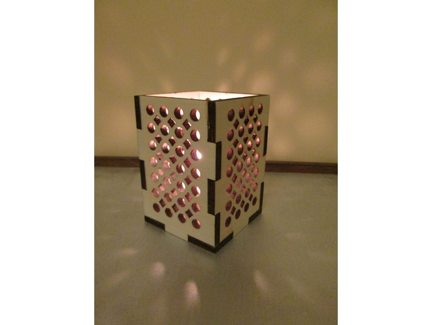 Modern Lamp DXF 3D Puzzle   3D CAD Model Library   GrabCAD