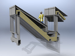 Industrial roof section