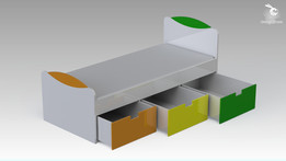 2013 Children Bed With Drawers