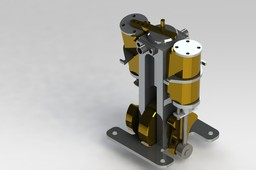 oscillating double action steam engine