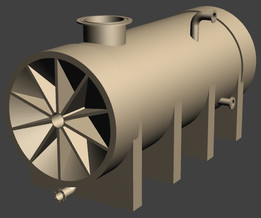 Chemical storage tank - low pressure