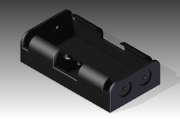 AA Battery Holder - Step File