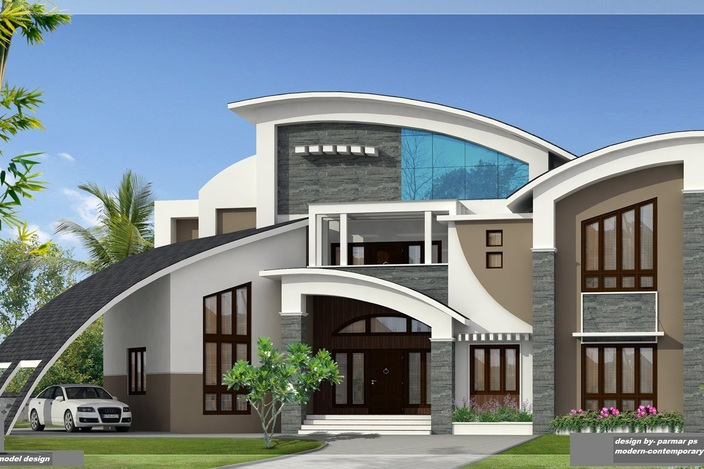 Unique house design 3d model house design
