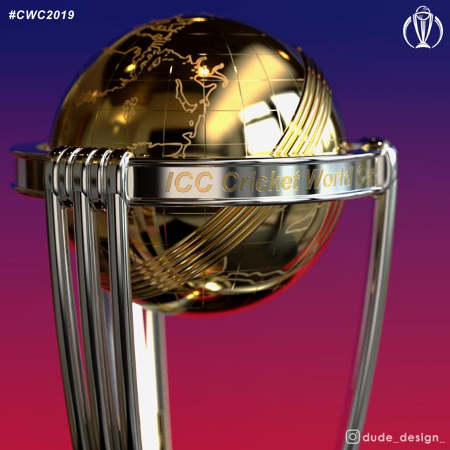 ICC Cricket World Cup Trophy | 3D CAD Model Library | GrabCAD