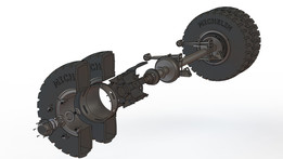 Non steering axle Assembly