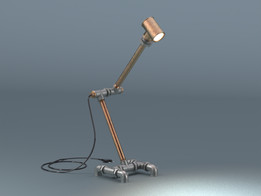 Pipe fitting lamp created in PARTsolutions