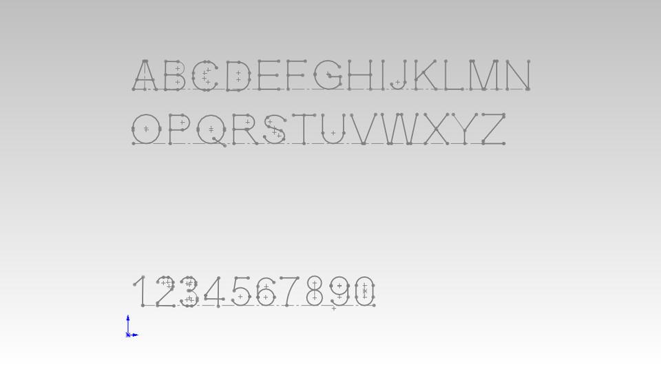 Arial Font Block for CAM cutting tools | 3D CAD Model