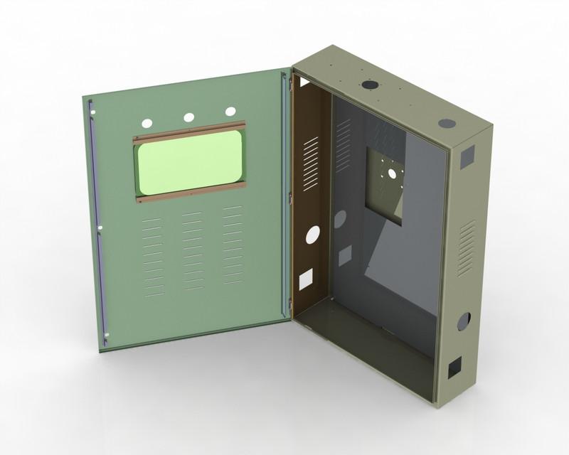electrical cabinet step iges 3d cad model grabcad