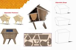 CNC Triangle Beehive