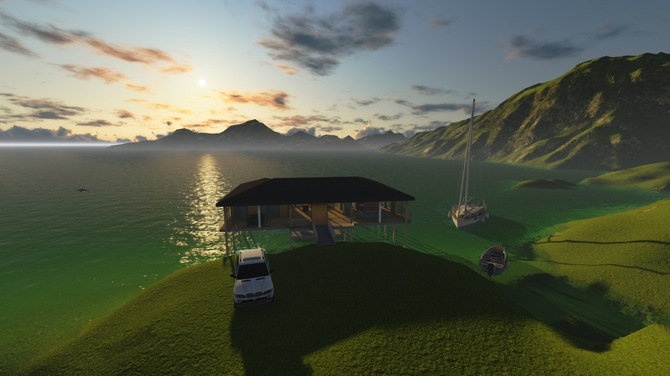 Lake house video | 3D CAD Model Library | GrabCAD