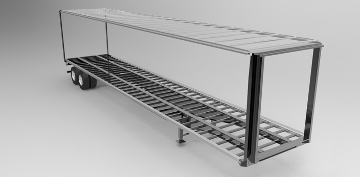 Tautliner trailer main frame