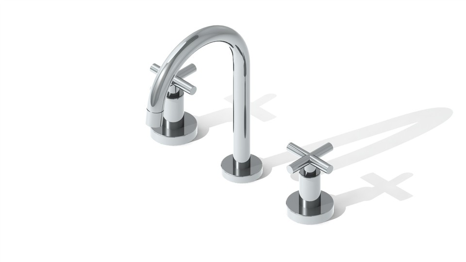 Sink Tap Modell : Sink faucet d cad model library grabcad