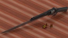 45ACP Revolver Gunblade