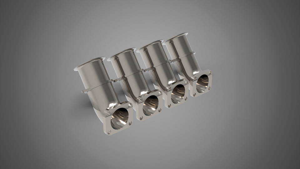 Toyota AE86 Open Intake Manifold | 3D CAD Model Library | GrabCAD