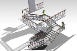 SS/WOOD Combination Handrail