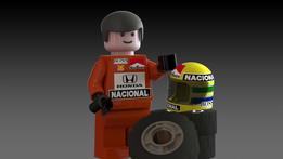 LEGO Ayton Senna minifig