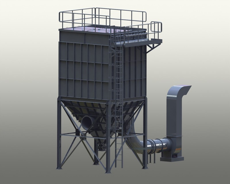 250cmm Dust Collector 3d Cad Model Library Grabcad
