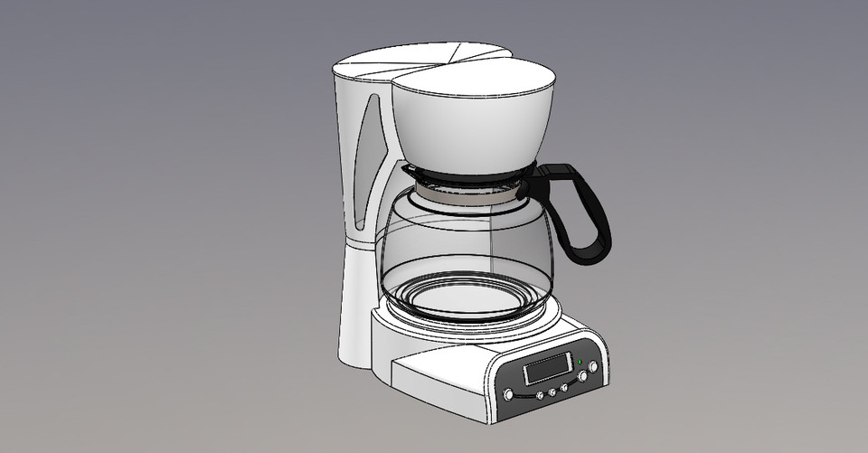 Coffee maker - SOLIDWORKS,SOLIDWORKS - 3D CAD model - GrabCAD