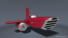Vintage space car