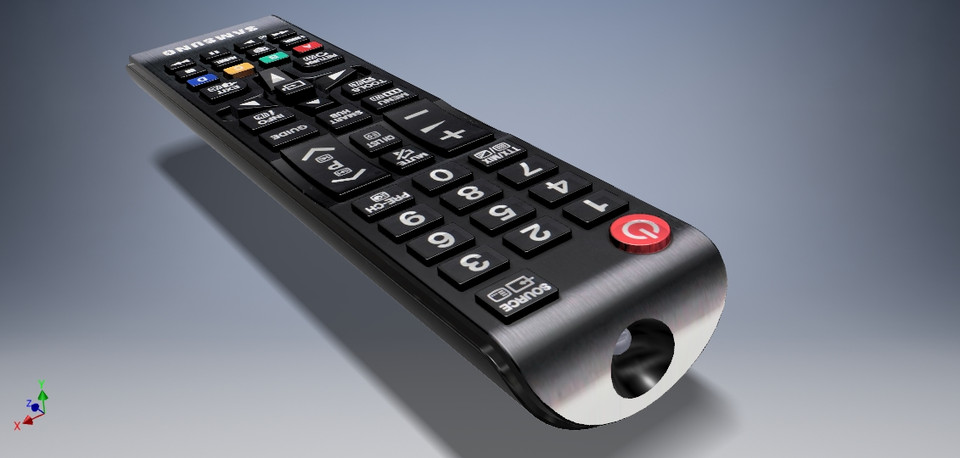Samsung TV remote controller | 3D CAD Model Library | GrabCAD