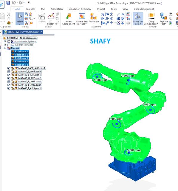 ROBOTIC ARM - YASKAWA MOTOMAN | 3D CAD Model Library | GrabCAD
