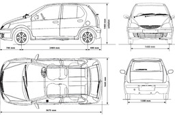 tata indica car sketch tracer