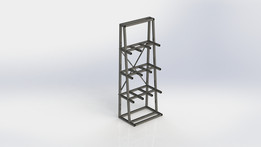 Metal Vertical Storage Rack