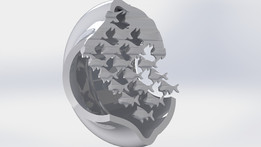Escher Sky and Water 3D Sculpture Creation