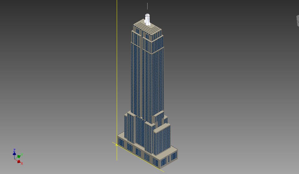 Autocad Empire State Building