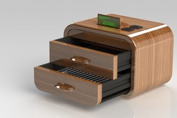 Toaster type bedside table with lcd (designed, engineered and assembled by Michele Bini Chiesa)