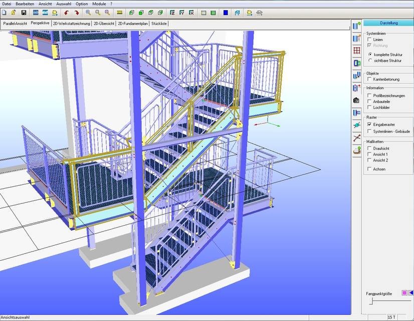 Emergency Staircase - Steel Construction | 3D CAD Model